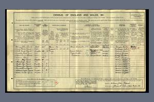 1911 Census - 7 Briscoe Road, Colliers Wood