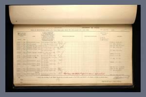 Service Medal Document - Arthur Pocklington