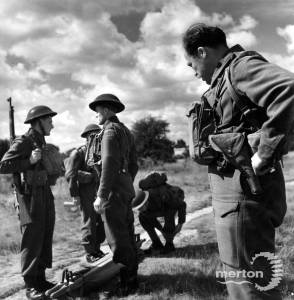 A Home Guard exercise on Mitcham Common