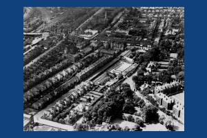 Aerial view of the Broadway, Wimbledon.
