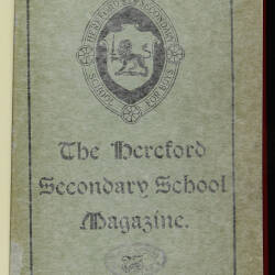 Hereford High School For Boys Magazine 1914 - 1920