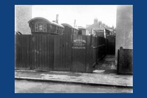 Deburgh Road, Wimbledon: Gypsy caravans