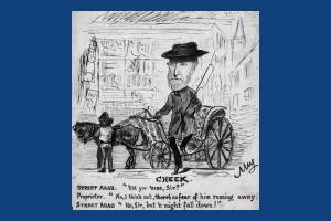 Collingsby caricature entitled Cheek