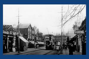 Worple Road: Looking towards the Alexandra Pub