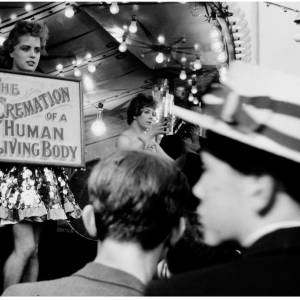 The May Fair in Hereford town during the 1950s was a much more risqué experience (There was Glamour on Parade and the Gay Nineties) with rides and novelty acts spread right across the town.