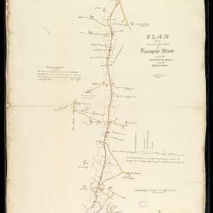 Plan of an intended new piece of turnpike road from the Monmouth Road toward Hereford, 1818