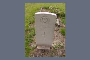 Gravestone of John W Gladstone