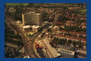 Aerial view of Crown House, London Road, Morden