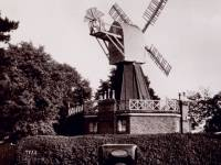 Cars parked by the windmill, Wimbledon Common