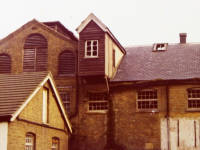 London Road, Mitcham: Mill opposite Watermeads Estate,