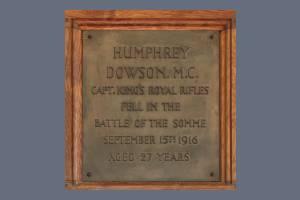 Memorial Plaque - Dowson
