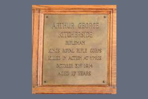 Memorial Plaque - Kitcherside
