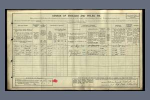 1911 Census - 98 High Street, Colliers Wood