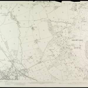 OS Sheet XXI.6 Bromyard Downs 1904