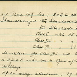 Extracts from Leominster Infants School logbook - April 1909 to March 1921