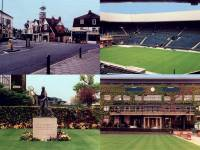 Wimbledon Village, Centre Court, Main Entrance to the All England Club House and the Fred Perry Memorial, All England Club.