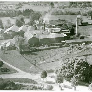 Evans Cider Works, Widemarsh, Hereford, aerial view 1932