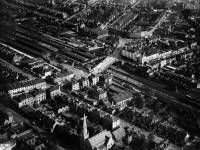 Aerial view of Wimbledon Station and the surrounding area