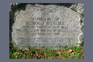 Gravestone of Harold Rosher