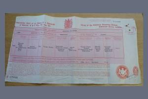 Birth Certificate - Lionel Winnington Forde