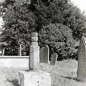 Almeley Cross, Almeley Churchyard, 1928