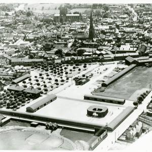 Cattle Market, aerial view, 1933