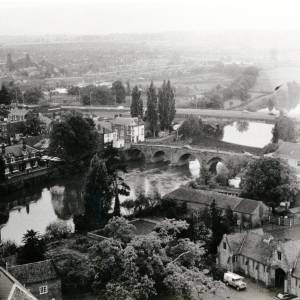 Bridges over the River Wye at Hereford, c1990