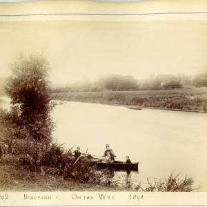 On the River Wye at Hereford, 1891