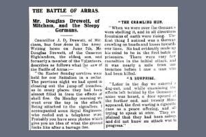 Newspaper Extract - Douglas Walter Drewett