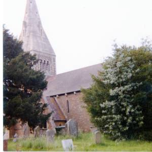 All Saints Church, Coddington,  exterior, c1983
