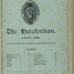 The Herefordian No 73_July 1913