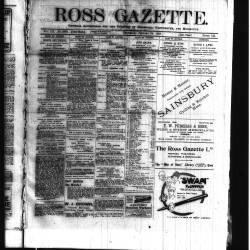 Ross Gazette 1918