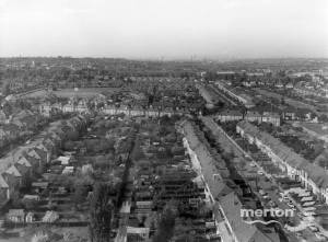 Aerial view of the Mitcham area