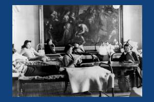 Afternoon tea time at Morden Hall Convalescent Hospital, Morden
