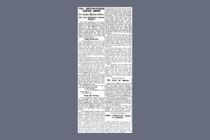 Newspaper Extract - Arthur Gordon Jackson