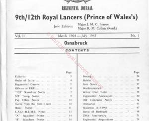 9th-12th Lancers, 1964
