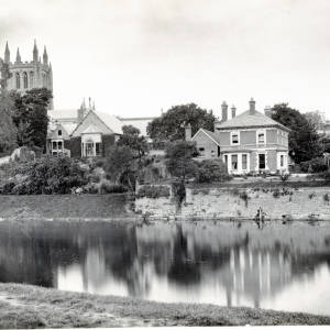 Cathedral College from Bishops Meadow, Hereford