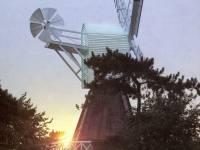 The windmill at sunrise