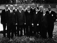 Group of dignitaries near Three Kings Pond, Mitcham