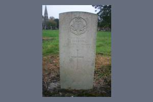 Gravestone of Ernest A Harding