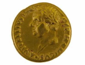 Gold Aureus of Vitellius, AD 69