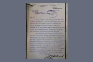 Letter to the War Office regarding Charles Pelham Gardner Aldrich