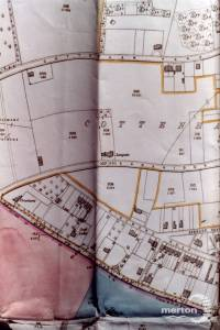 1865 map of Cottenham Park, Cambridge Road, Richmond Road, Avenue Road, Crowhurst, Spencer Road and Langside, Raynes Park