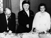 Mr. Roberts Brown, Mrs. M. Belton and Mrs. Roberts Brown ( left to right )