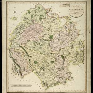 A new map of Herefordshire 1801 by John Cary