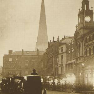 Gas-lit Cab Rank, High Town, Hereford 1890