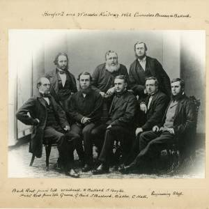 Hereford and Worcester Railway contractors: Brassey and Ballard, engineering staff, 1861
