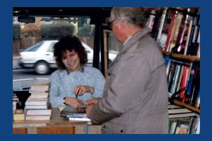 Wimbledon Mobile Library - Librarian, Janet Grimes.