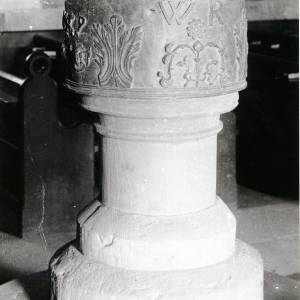 Aston Ingham church font, 1869