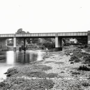 Eign railway bridge, Hereford, c1900